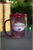 Central Michigan Season's Greeting 12 Oz Travel Mug