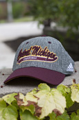 Central Michigan Chippewas Adidas Flex Hat With Maroon Bill And Flying C On Back