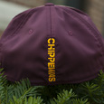 Flying C Adidas Maroon Hat with Vertical Chippewas on back