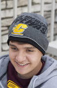 Flying C Central Michigan Chippewas Black And Gray Adidas Beanie