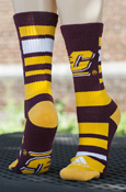 ebc25da8ed3 Flying C Adidas Striped Socks With Flying C On Bottom