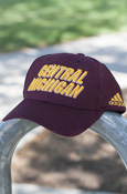 Central Michigan Maroon Adjustable Adidas Hat With Flying C On Back