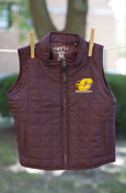 Flying C Maroon Youth Quilted Vest