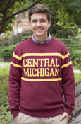 Central Michigan Lines Maroon Sweater