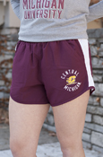 Circle Flying C Central Michigan Under Armour Ladies Maroon Running Shorts