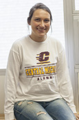 Flying C Central Michigan Alumni White Long Sleeve Tee