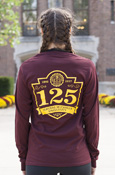 125Th Anniversary Central Michigan Maroon Long Sleeve