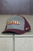Central Gray And Maroon Nike Hat With Flying C On Back