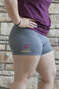 Flying C Chippewas Ladies Nike Charcoal Compression Shorts
