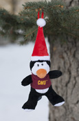 CMU Santa Hat Penguin Ornament
