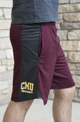 Cmu Chippewas Nike Maroon And Gray Shorts
