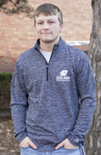 Flying C Central Michigan University Heathered Gray 1/4 Zip