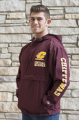 Flying C Central Michigan Maroon Packable Jacket