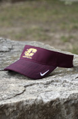 Flying C Dark Heathered Nike Adjustable Visor With Chippewas On Back