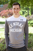 Arched Central Michigan Two-Tone Gray And White Under Armour Long Sleeve T-Shirt