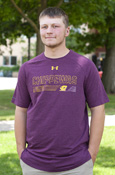 Chippewas Lines Flying C Maroon Under Armour T-Shirt