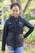 Central Michigan Ladies Under Armour Quilted Hooded Jacket