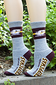 2b436c4881c Central Michigan Chippewas Flying C Gray Socks