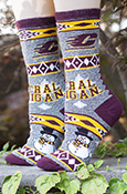 Central Michigan Gray Snowman Youth Socks