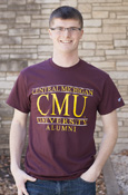 Central Michigan Cmu University Alumni Maroon T-Shirt