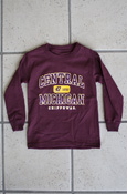 Central Michigan 1892 Chippewas Youth Maroon Long Sleeve