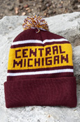 Maroon and Gold Central Michigan Kids Knit Pom Hat