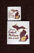 I'm in a Central Michigan State of Mind Vinyl Decal (Outside Application)