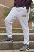 Distressed Central Michigan Light Gray Joggers