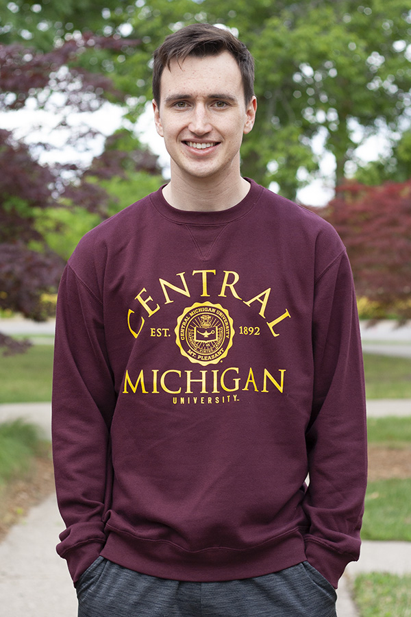 Arched Central Michigan Seal Maroon Crew (SKU 5037940853)