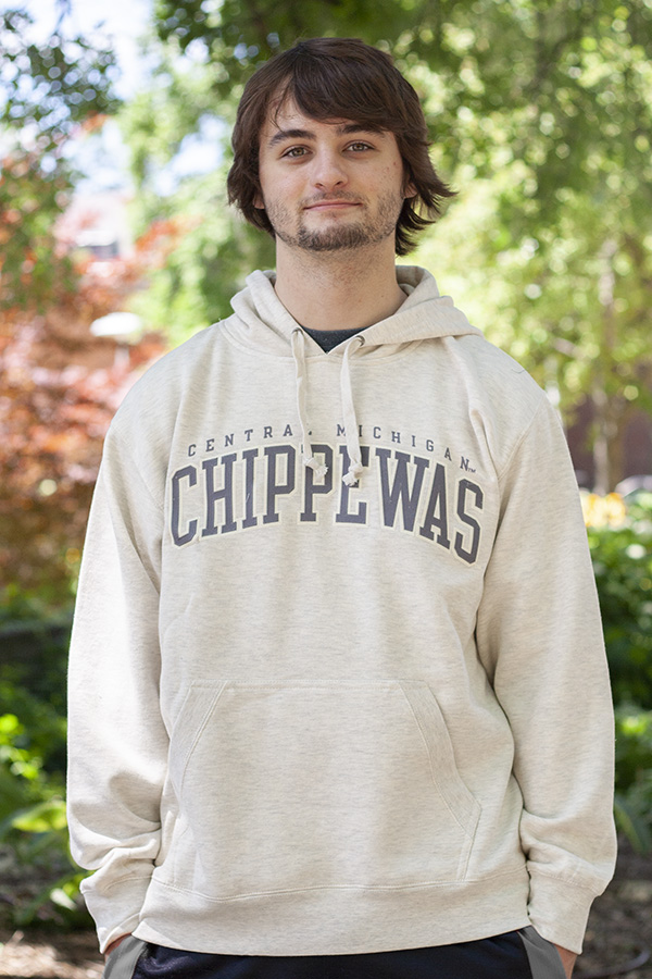 Arched Central Michigan Chippewas Oatmeal Hoodie (SKU 5037951453)