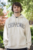 Arched Central Michigan Chippewas Oatmeal Hoodie