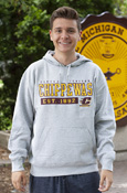 Central Michigan Chippewas Est. 1892 Gray Hoodie