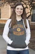 Central Michigan 1892 Seal Two-Tone Ladies Hoodie
