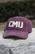 CMU Maroon Washed Canvas Hat
