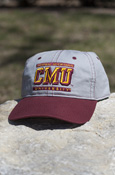 Central Michigan 3D Cmu University Gray Hat With Maroon Bill
