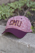 CMU Heather Maroon Hat with Maroon Brim