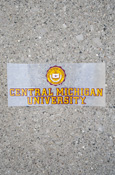 Seal Over Central Michigan University Decal Approx. 6.75X3""