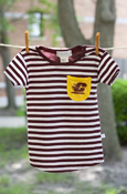 Flying C Gold Pocket Striped Toddler T-Shirt