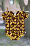 All Over Central Michigan Chippewas Print Onesie