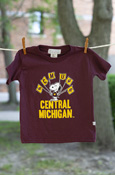 Central Michigan Snoopy Flags Maroon T-shirt