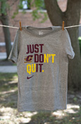Just Don't Quit Gray Youth Nike T-shirt