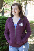 Cmu Box Chippewas Ladies Nike Heathered Maroon Full Zip