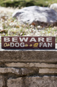 "Beware Our Dog Is A Chippewa Fan Sign Approx. 13""X3"""