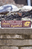 "A Family That Cheers Together, Stays Together Flying C Sign Approx. 13""X3"""