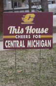 This House Cheers For Central Michigan Yard Sign