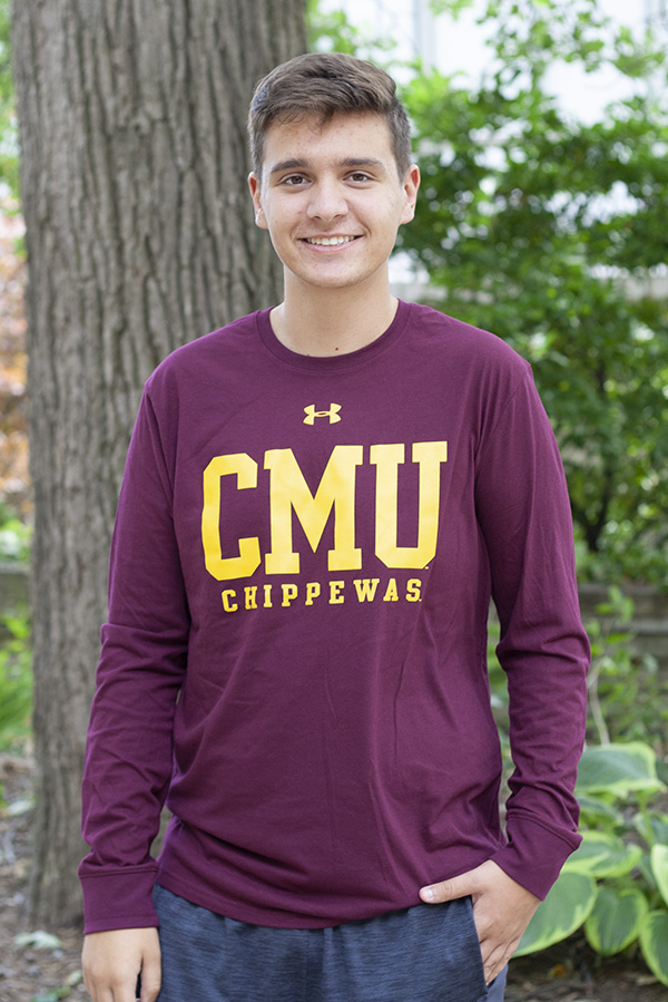 CMU Chippewas Maroon Under Armour Long Sleeve T-Shirt (SKU 5038448854)