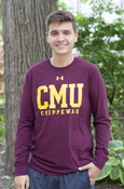 Cmu Chippewas Maroon Under Armour Long Sleeve T-Shirt