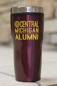 Seal Central Michigan Alumni 16Oz Maroon Travel Tumbler