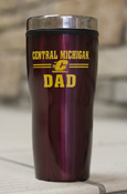 Central Michigan Flying C Dad 16Oz Maroon Travel Tumbler