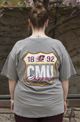 Cmu Route Sign Gray Comfort Colors T-Shirt With Back Graphic